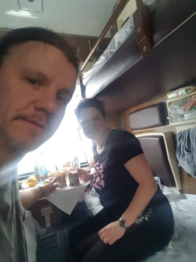 Fahrt in der Transsibirischen Eisenbahn