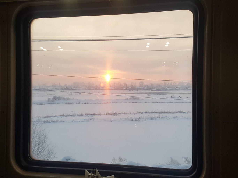 Transsib Blick aus dem Fenster