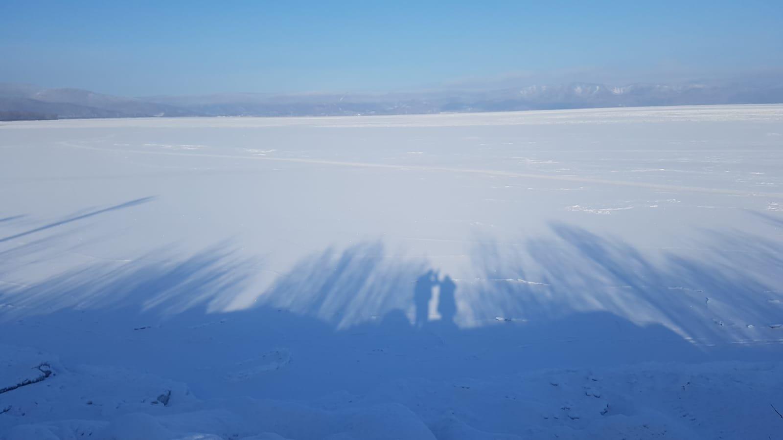 Schatten auf dem Baikalsee